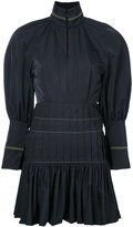 Ellery pleated trim fitted dress