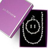 Jon Richard Crystal clover necklace earring and bracelet set