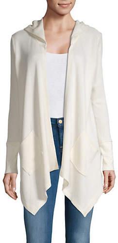 Style&Co. STYLE & CO. Asymmetric Hem Hooded Cardigan