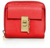 Chloé Drew Square Leather Zip-Around Wallet