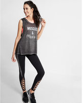 Express Muscle And Mascara Graphic Muscle Tank