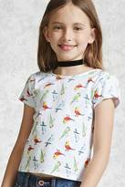Forever 21 Girls Bird Print Tee (Kids)