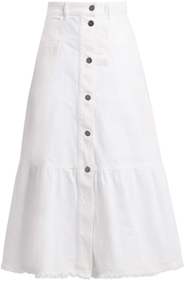 Valentino High-waisted denim skirt