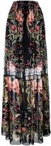 Roberto Cavalli 'Galaxy Garden' maxi skirt - women - Silk - 40