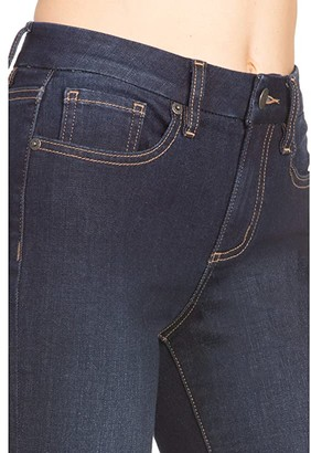 Miss Me Mid-Rise Flare with Embroidered Hem in Dark Blue (Dark Blue) Women's Jeans