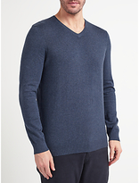 John Lewis Cotton Blend V-neck Jumper