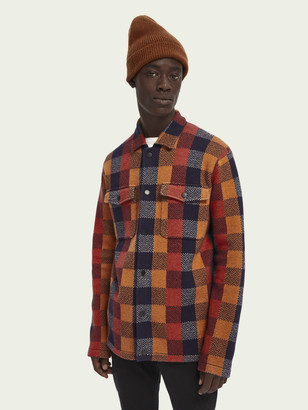 Scotch & Soda Checked worker shirt-jacket | Men