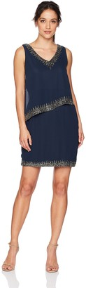 J Kara Women's Petite Sleeveless Short Cocktail Dress