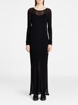 DKNY Sheer Rib Maxi Dress
