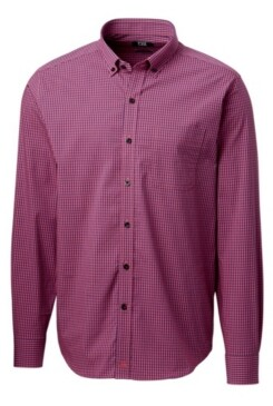 Cutter & Buck Men's Anchor Gingham Shirt