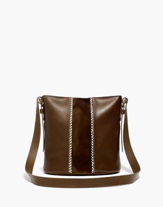 Madewell The Transport Bucket Bag: Suede Inset Edition