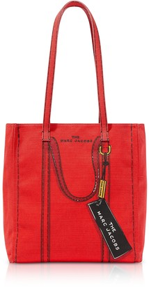 Marc Jacobs Cotton & Linen The Trompe Loeil Tag Tote Bag 27