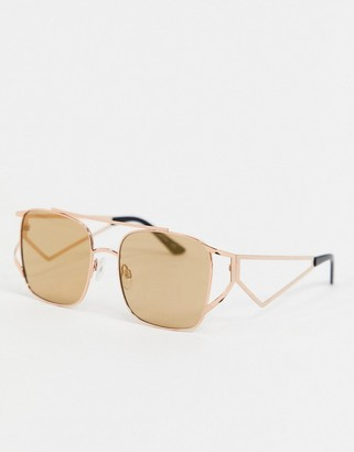 Jeepers Peepers rose gold tinted sunglasses