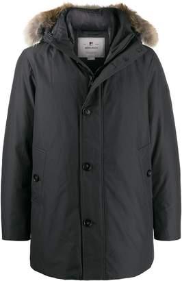 Woolrich faux-fur hooded coat
