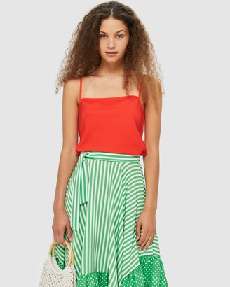 Topshop Women's Red Sleeveless Tops - Camisole - Size 6 at The Iconic