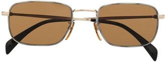 David Beckham Full-Rim Rectangular Frame Sunglasses