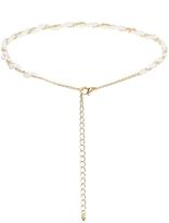 Asos Fine Faux Pearl Choker Necklace