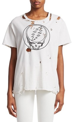 R 13 Steal Your Face Distressed Tee
