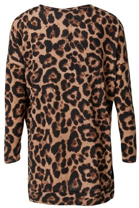 Dorothy Perkins Womens *Izabel London Beige Leopard Print Jumper, Beige