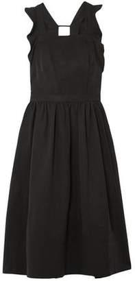 Ulla Johnson Ruffle-trimmed Cutout Twill Midi Dress