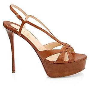 Christian Louboutin Women's Veracité 130 Patent Leather Platform Sandals