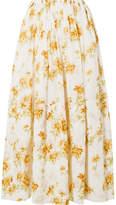 Brock Collection Sonny Floral-print Cotton-voile Midi Skirt