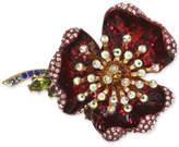 Betsey Johnson Gold-Tone Multi-Stone Flower Ring