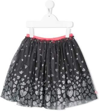Billieblush heart-print tulle skirt