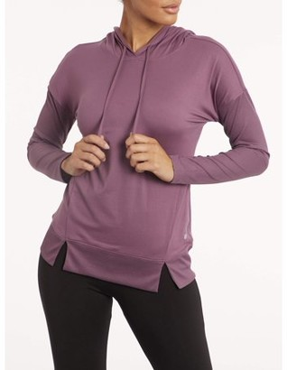 Bally Total Fitness Bally Women's Active Pullover Long Sleeve Ribbed Hoodie