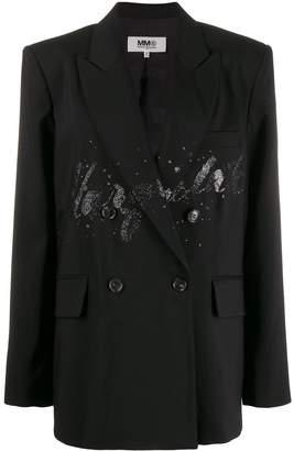 MM6 MAISON MARGIELA glitter detail blazer