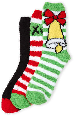 Betsey Johnson 3-Pack Stripe Cozy Sock Gift Set