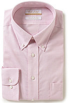 Roundtree & Yorke Gold Label Big & Tall Non-Iron Regular Full-Fit Gingham Button-Down Collar Dress Shirt