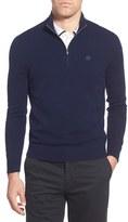 AG Jeans Men's Green Label 'Baker' Trim Fit Wool & Cashmere Half Zip Sweater