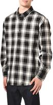 Haggar Men's Black Plaid Flannel Shirt