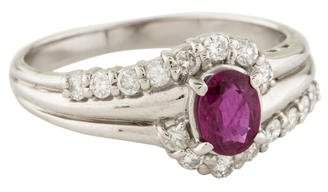 Ring Platinum Ruby & Diamond
