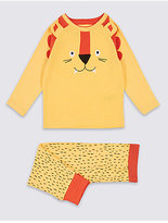 Marks and Spencer Cotton Rich Lion Print Pyjamas (9 Months - 5 Years)