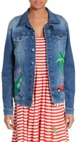 Mira Mikati Women's Rainforest Embroidered Denim Jacket