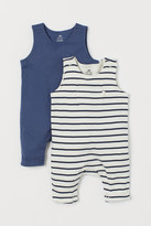 H&M 2-pack Sleeveless Rompers - Blue