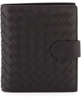Bottega Veneta Small Intrecciato Leather Bifold Wallet, Black