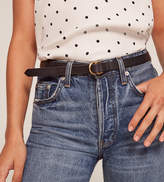 Reformation Maximum Henry Very Slim Loop Double Ring Brass Buckle Belt