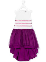 Junior Gaultier glitter round stripe tutu dress - kids - Cotton/Polyamide - 4 yrs