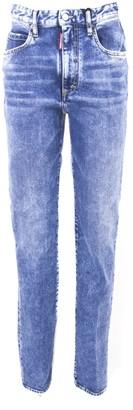 DSQUARED2 Boyfriend Blue Cotton Jeans