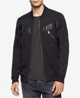 Calvin Klein Men's Mixed-Media Bomber Jacket