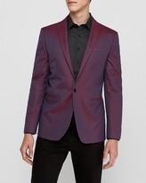 Express Slim Magenta Cotton Oxford Tuxedo Jacket