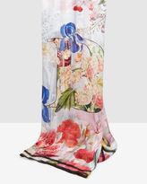 RAURY Encyclopedia Floral silk scarf