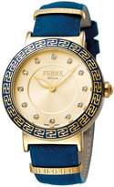 Ferré Milano Women's FM1L041L0111 Champagne dial with Dark Leather band Watch.