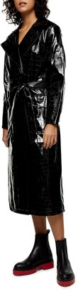 Marina Crocodile Embossed Trench Coat