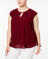 Monteau Trendy Plus Size Layered Top