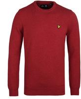 Lyle & Scott Red Marl Crew Neck Lambswool Sweater
