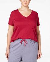 Nautica Plus Size V-Neck Pajama T-Shirt
